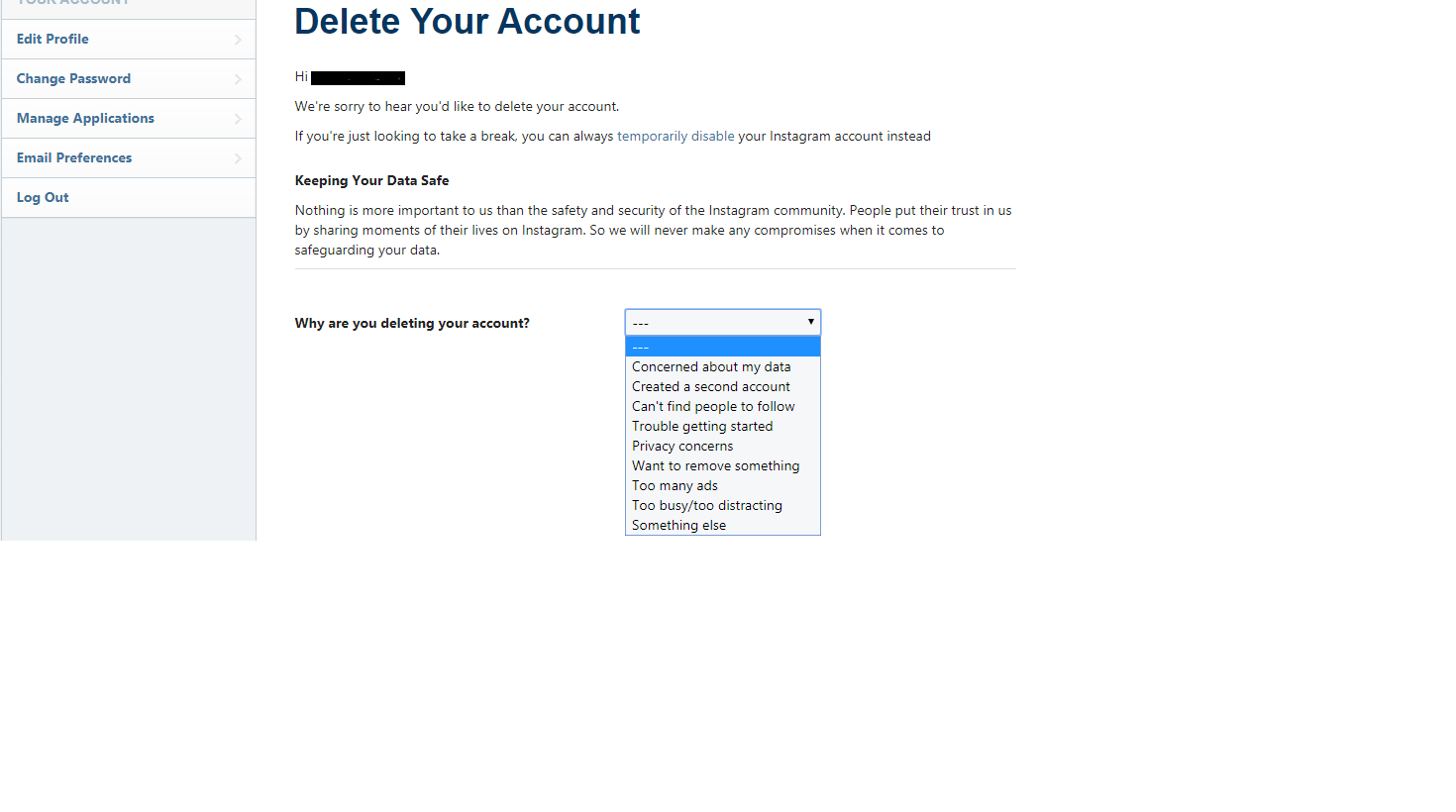 How To Delete Your Instagram Account - Social Singam