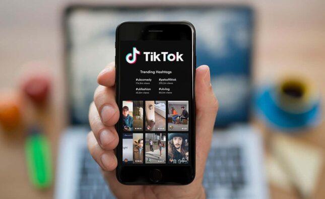 TikTok App on Mobile in Hand