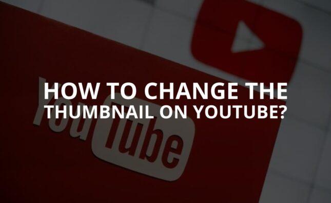 YouTube Thumbnail Change