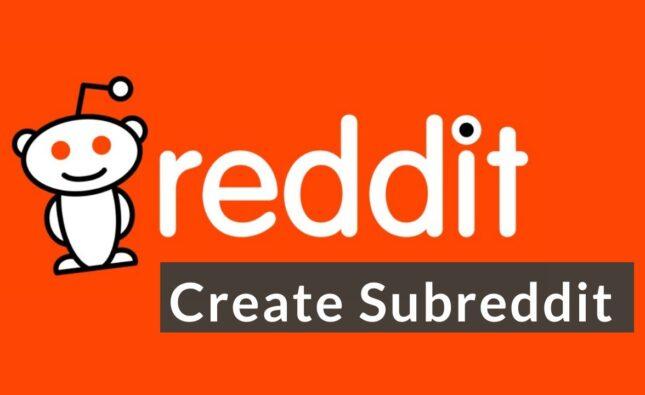 reddit logo with create subreddit text