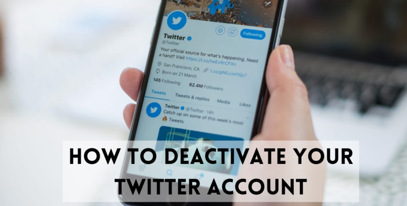 How To Deactivate Twitter Account Temporarily