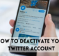 How To Deactivate Your Account Temporarily