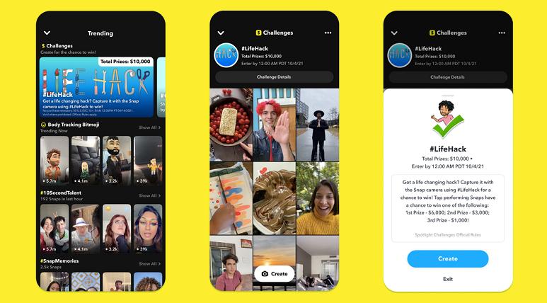 Snapchat Spotlight Challenges
