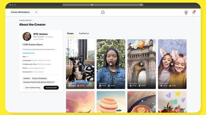 Snapchat Creator Marketplace